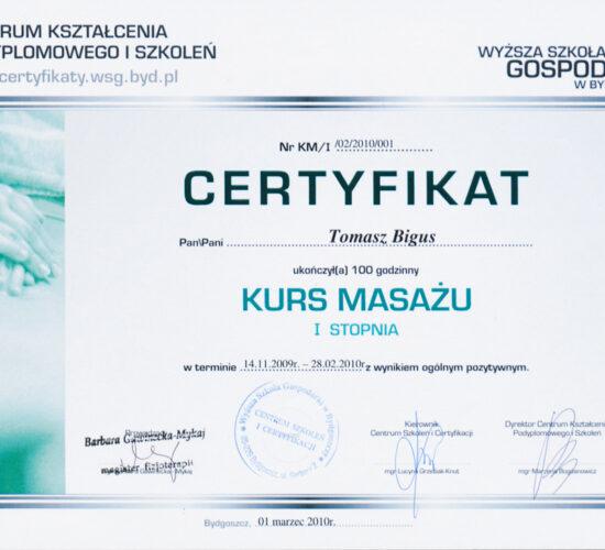 certyfikat - trener personalny Olsztyn